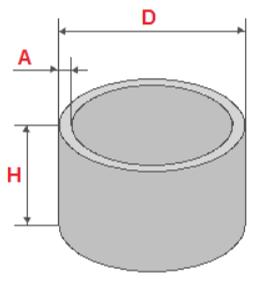Расчет бетонных колец онлайн