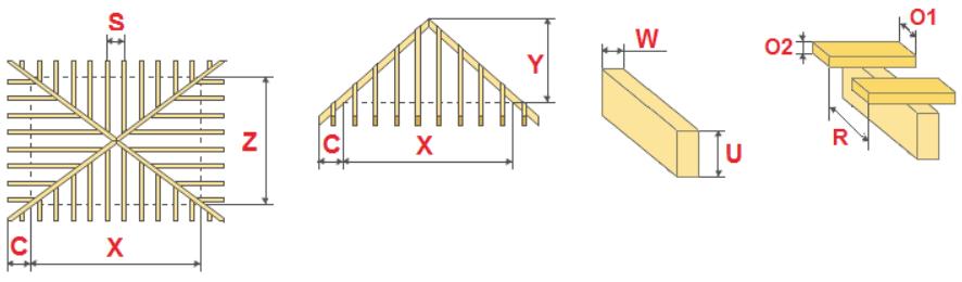 Расчет шатровой крыши